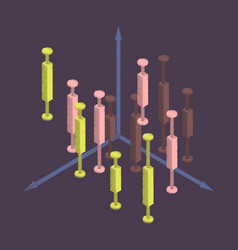 flat shading style icon economic chart vector image