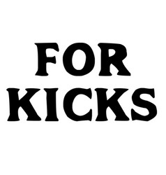 For kicks stamp on white vector