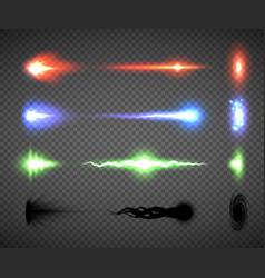 Futuristic energy weapon firing effect vector