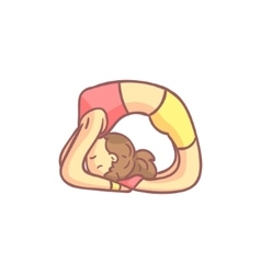 Girl Doing Dove Yoga Pose vector image