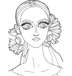Girl with a decoration on her head 16 vector