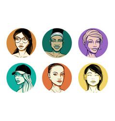 Girls avatars vector