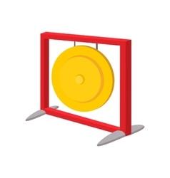 Gong cartoon icon vector