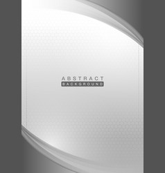 gray curve shapes on hexagon background vector image