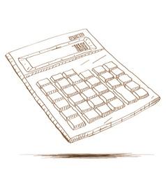 Hand drawn calculator vector