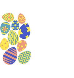 Happy easter egg hunt background vector