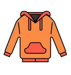 Hoodies linecolor vector