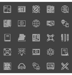 Internet education icons set vector image