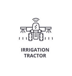 irrigation tractor line icon outline sign linear vector image