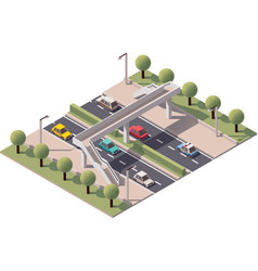 isometric pedestrian bridge vector image