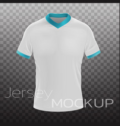 Jersey mockup realistic vector