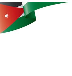 Jordan flag on a white vector