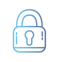 Line padlock security protection object to privacy vector