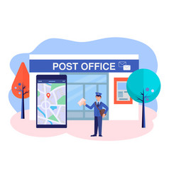 mail delivery service geolocation determination vector image