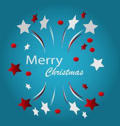 merry christmas typographic vector image