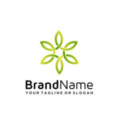 Natural logo design vector