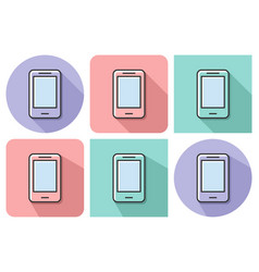 outlined icon of smartphone with parallel and not vector image