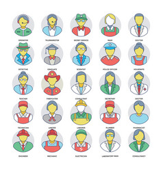 professional services icons set vector image