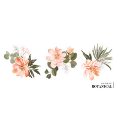 realistic 3d floral bouquet design garden vector image