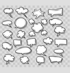 retro speech bubbles set on transparent background vector image