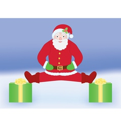 Santa Claus doing split vector image