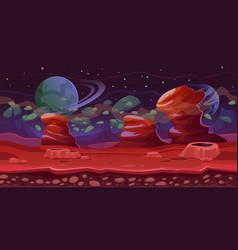 science fiction themefantasy seamles sgame scene vector image