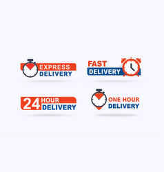 set fast delivery banners fast delivery vector image