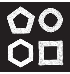 set four chalk textured frames vector image