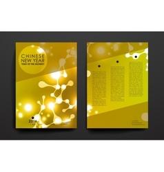 Set of brochure poster design templates in vector image