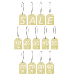 set of tags with discounts sale vintage style vector image