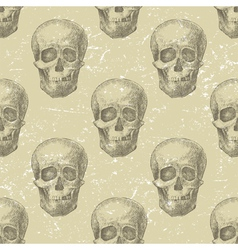Skull seamless vector