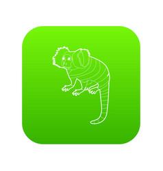 Small monkey icon green vector