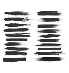 smudge black brushstrokes vector image