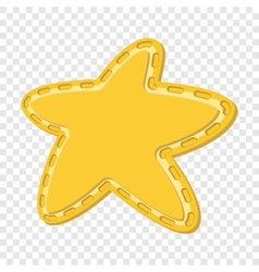 Star cartoon icon vector