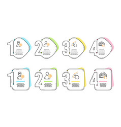 Support swipe up and user idea icons set vector