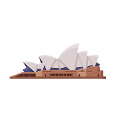 Sydney opera house as famous city landmark and vector
