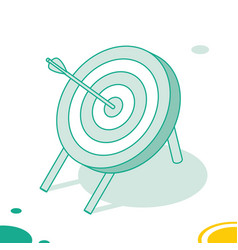 target with arrow standing on a tripod outline vector image