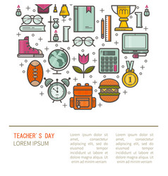 Teacher gratitude vector
