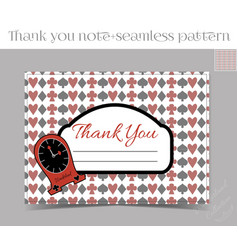 Thank you Note - Clocks from Wonderland vector image