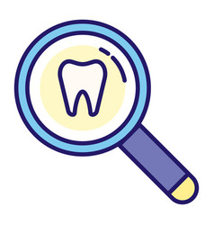 Tooth inspection linecolor vector