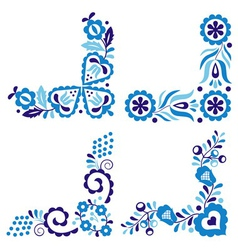 Traditional folk patterns vector