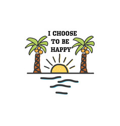 travel quote hand made badge - i choose to be vector image