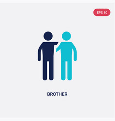 Two color brother icon from family relations vector