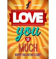Valentines Day type text calligraphic Valentines vector image
