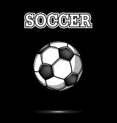 vintage soccer ball icon vector image