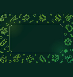 virus green horizontal frame line virology vector image
