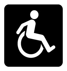 Wheel Chair Moving Sign vector image