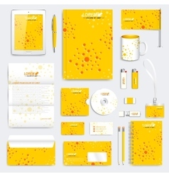 Yellow set of corporate identity template vector image