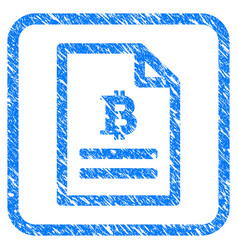 Bitcoin price page framed stamp vector