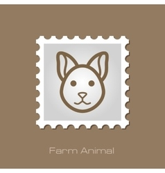 Cat stamp Animal head vector image